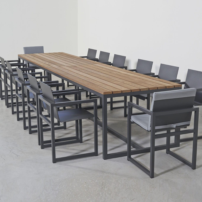 Contemporary Dining Table / Ash / Aluminum / Rectangular   SPIKES