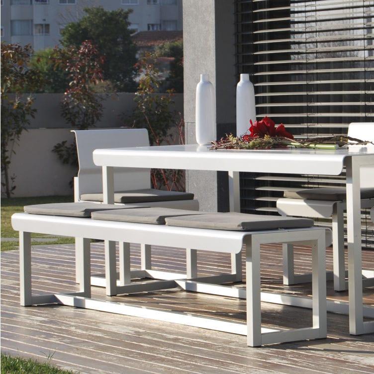 garden bench / contemporary / aluminum - WEST COAST by Carlos Aguiar - Garden Bench / Contemporary / Aluminum - WEST COAST By Carlos Aguiar