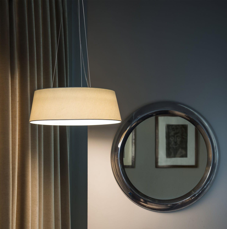 Pendant lamp contemporary aluminum fabric aina faro barcelona pendant lamp contemporary aluminum fabric aina aloadofball Images