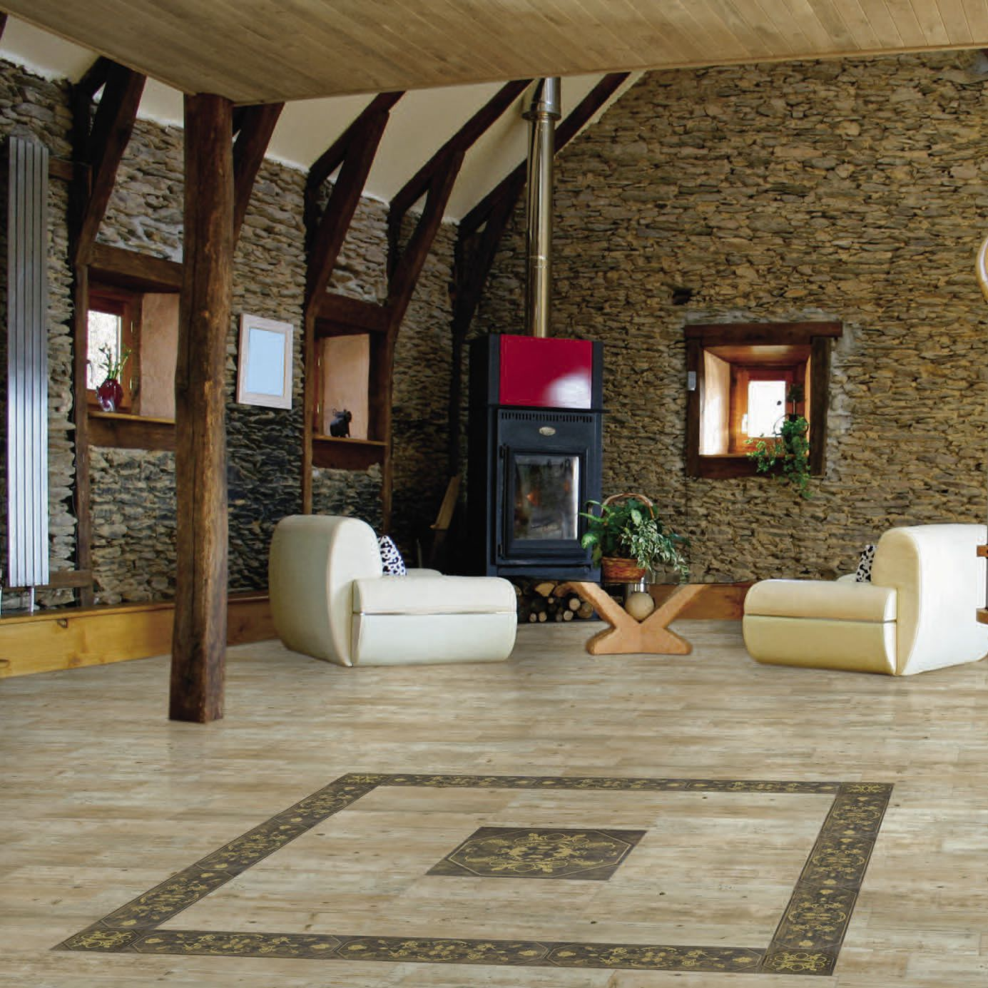Indoor tile / living room / wall / floor - LENA - AZULEJOS PLAZA