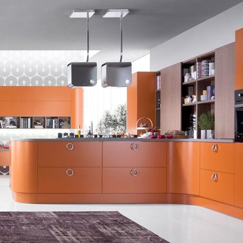 Contemporary Kitchen / Laminate / L Shaped / Lacquered   RITMO