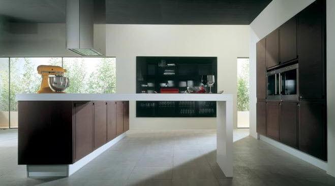 contemporary kitchen wooden hidden kappa