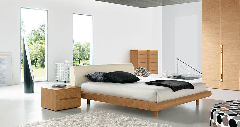 Double bed / contemporary / wooden - MODERN