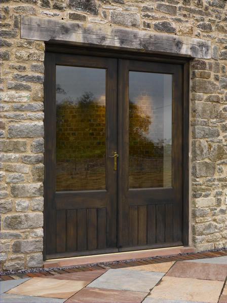 entry door swing oak glazed french broadleaf timber