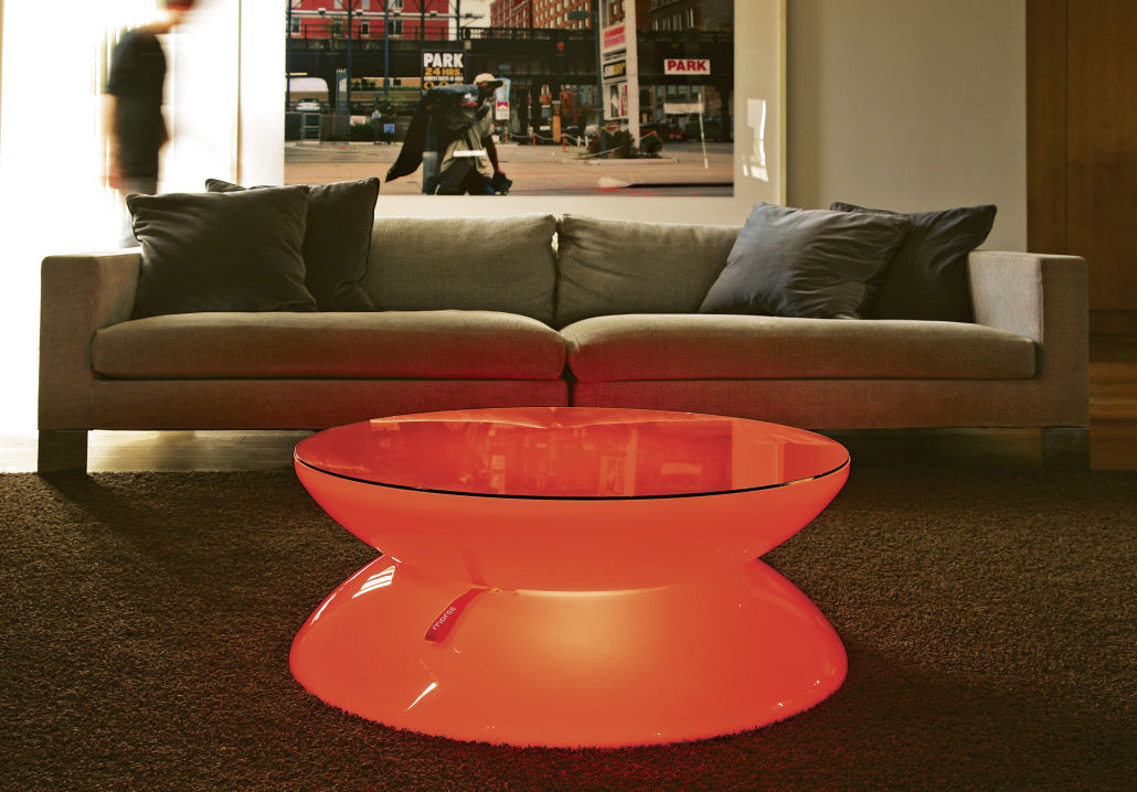 Genial ... Contemporary Coffee Table / Acrylic / Round / LED Illuminated ...