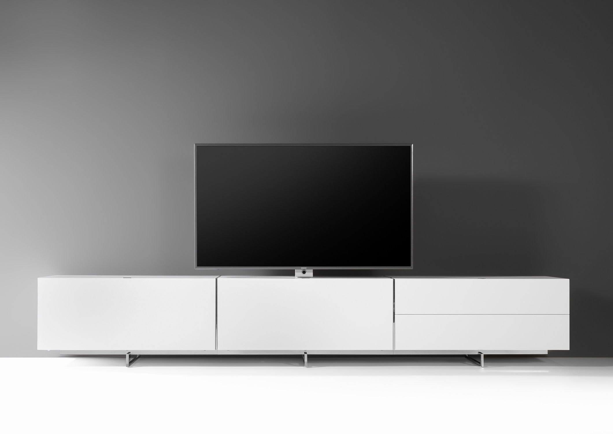 Lowboard Amazing Odessa Drawer Lowboard Tv Stand In High Gloss  # Television Moderne