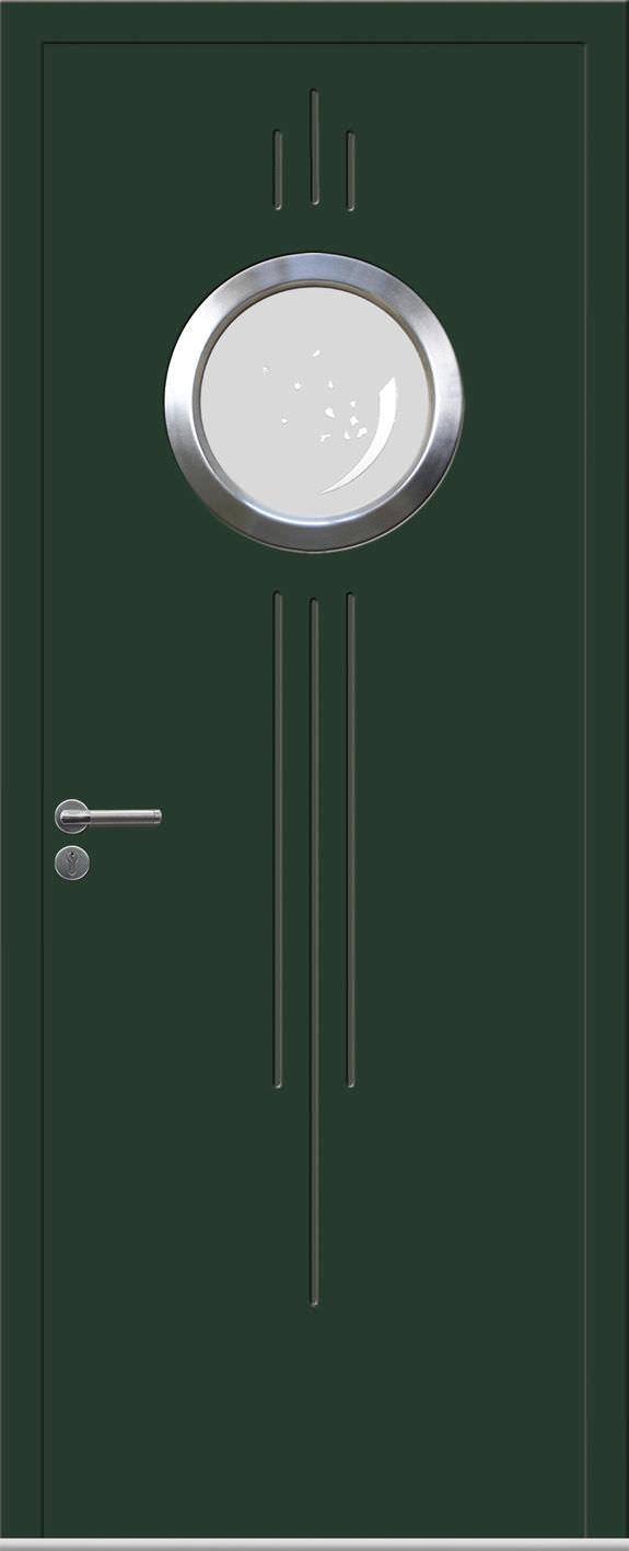 Entry door / swing / metal / composite - FV ANTHRACITE 1 SERIES ...