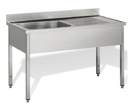 kitchen sink cabinet with legs for commercial kitchens 60 line on legs