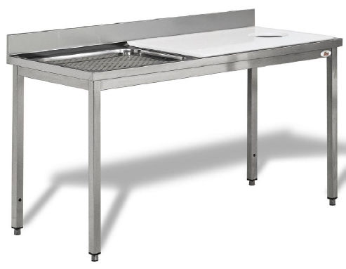 fish prep table stainless steel with sink lcpn0001 ilsa - Stainless Steel Prep Table