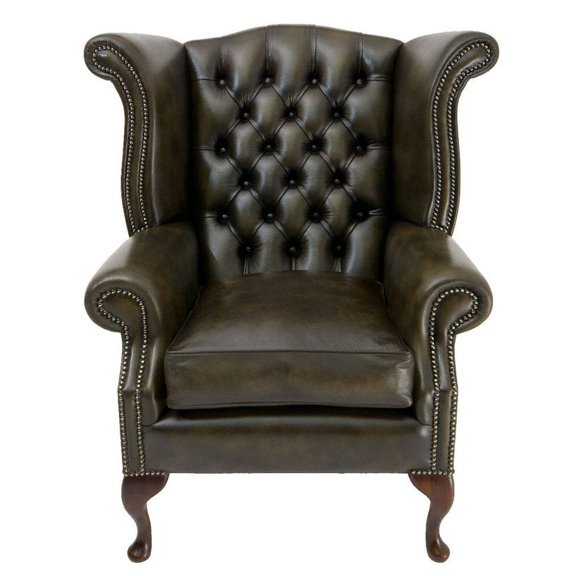 Classic Armchair / Leather / Wing / Bergere   ARKLE