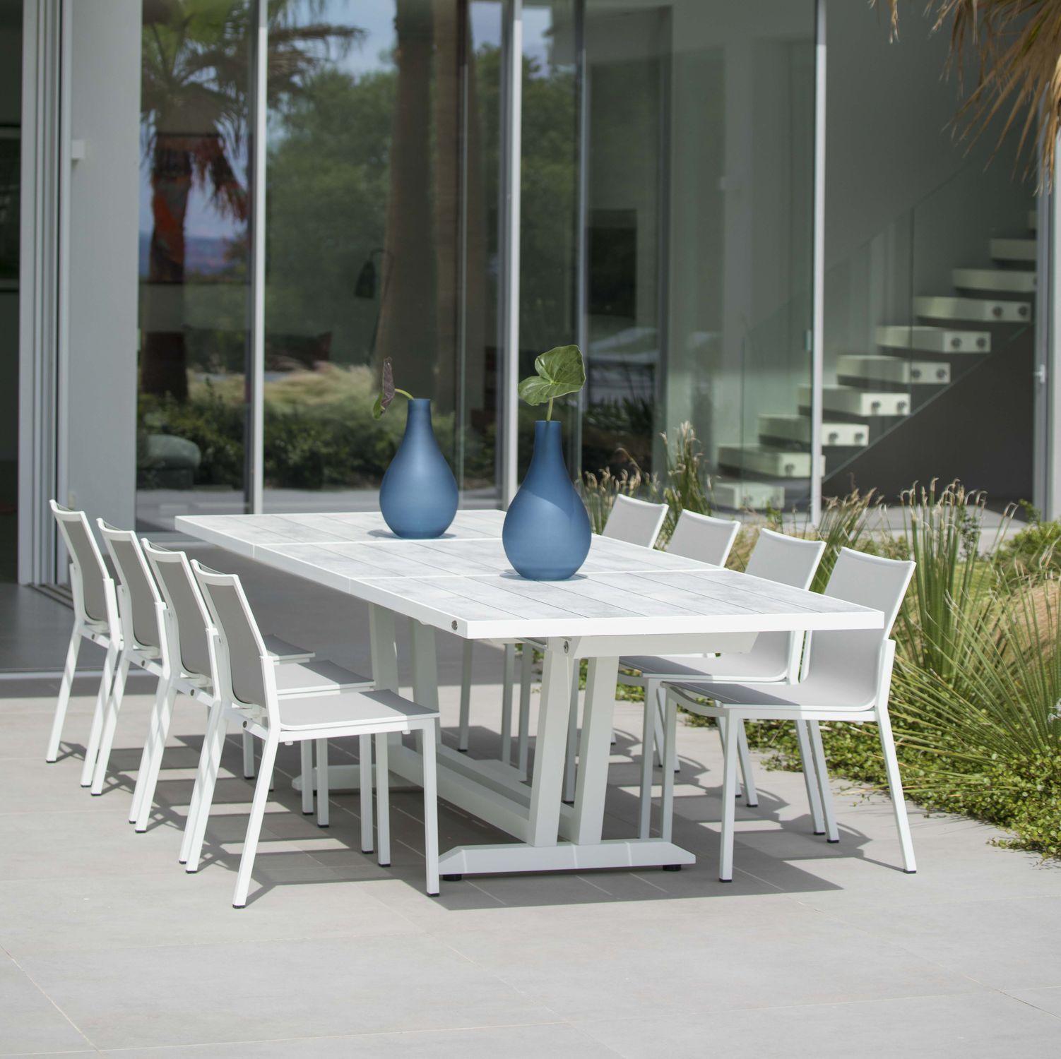 Contemporary dining table / aluminum / HPL / rectangular - AMAKA ...
