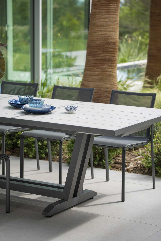 ... contemporary dining table / aluminum / HPL / rectangular - Contemporary Dining Table / Aluminum / HPL / Rectangular - AMAKA