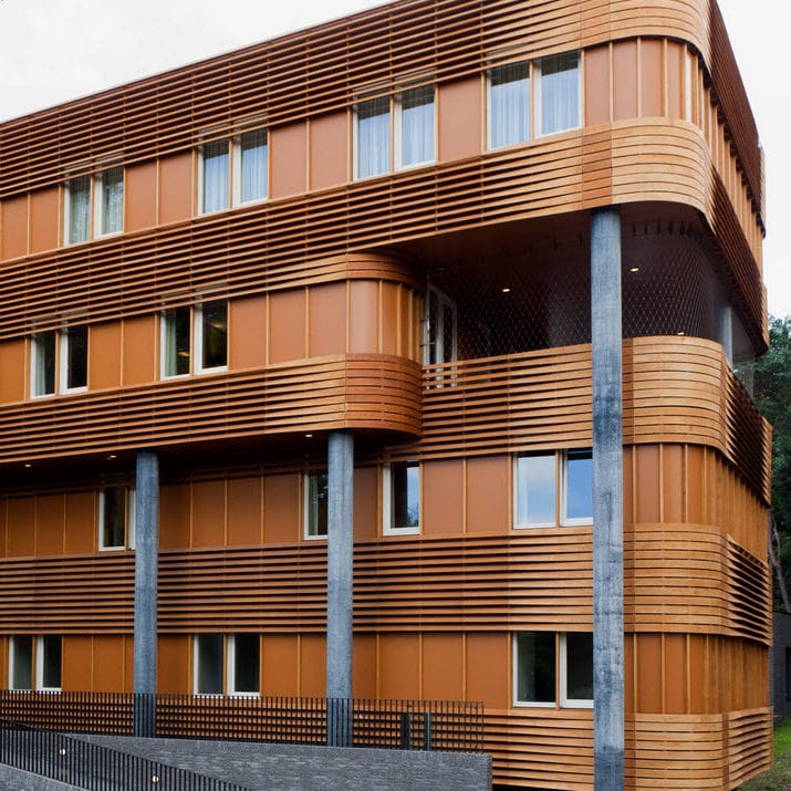 Wooden cladding / grooved / ribbed / panel - NIJMEGEN - Accsys ...