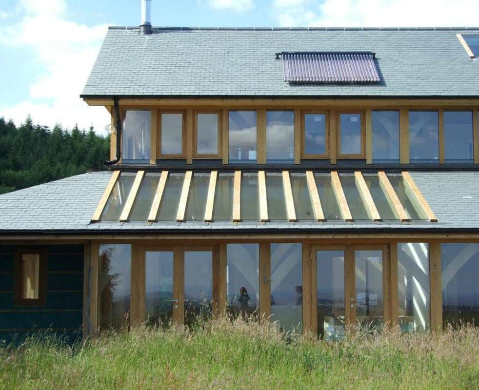 Prefab house / contemporary / timber frame house / wooden frame ...