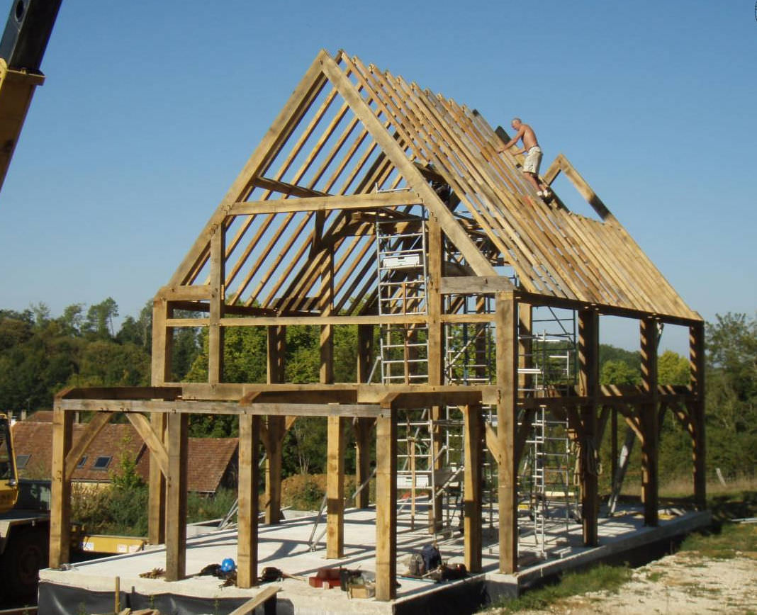 prefab house traditional timber frame house wooden frame france by roderick james - Wood Frame House