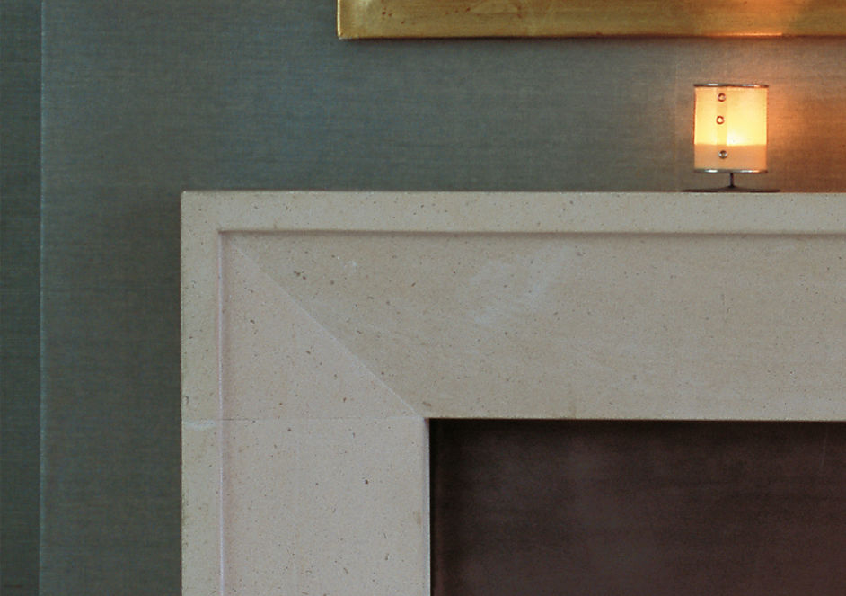 Traditional fireplace mantel / limestone - THE METRO - Traditional Fireplace Mantel / Limestone - THE METRO - Chesney