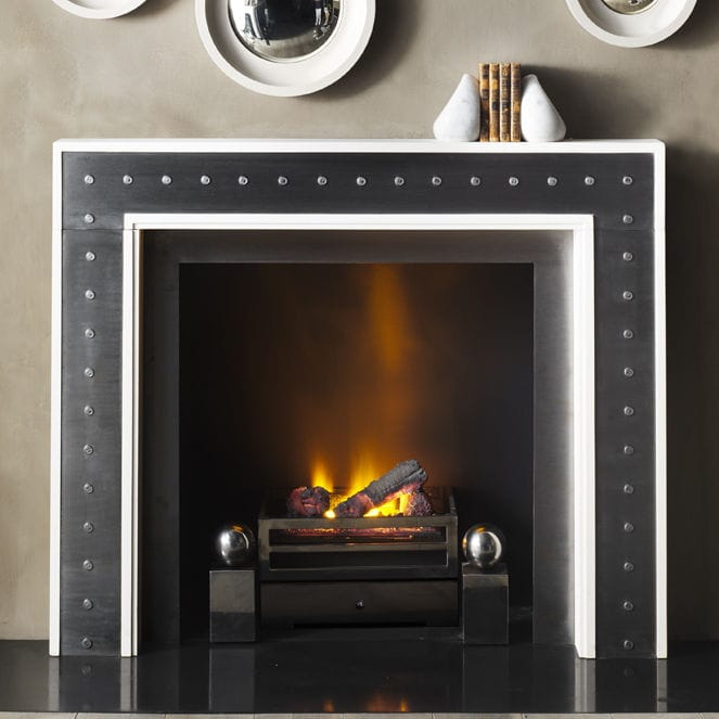 Attractive Fireplace Pittsburgh Part - 12: Contemporary Fireplace Surround - Steel - Stone - THE PITTSBURGH By Eric  Cohler