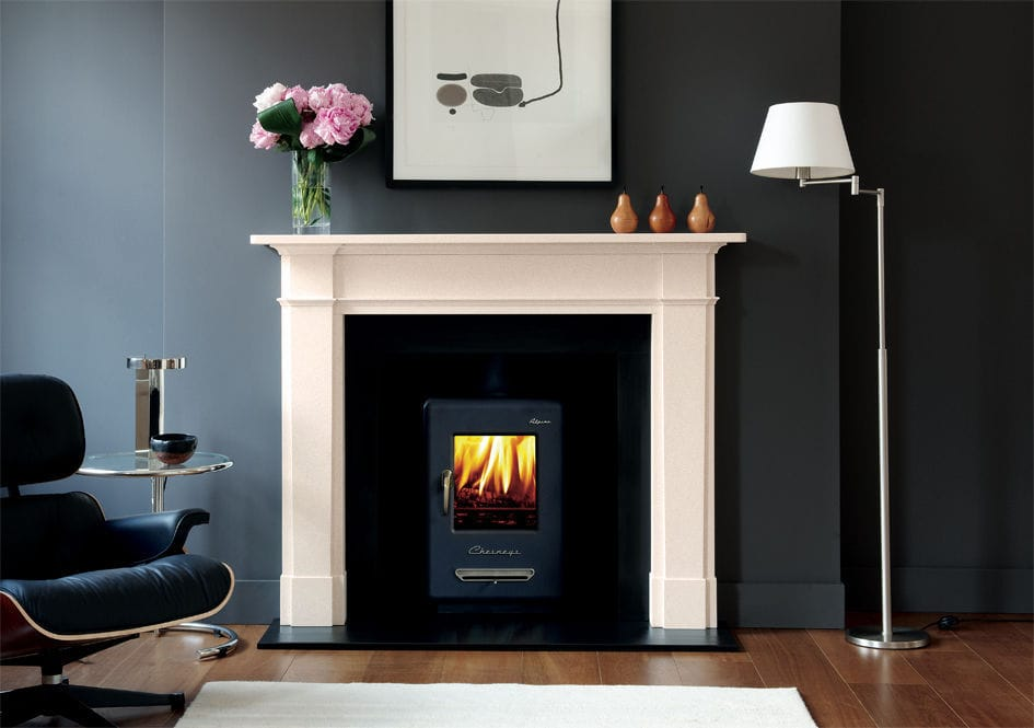 Traditional fireplace mantel / limestone - THE DEVONSHIRE - Chesney