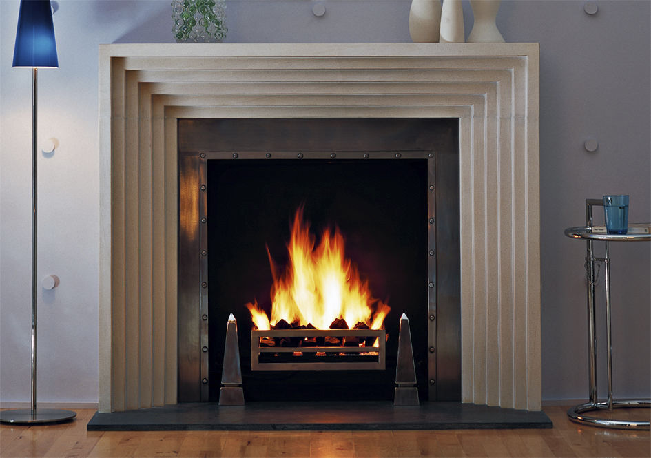 Traditional fireplace mantel / limestone - THE ODEON - Chesney