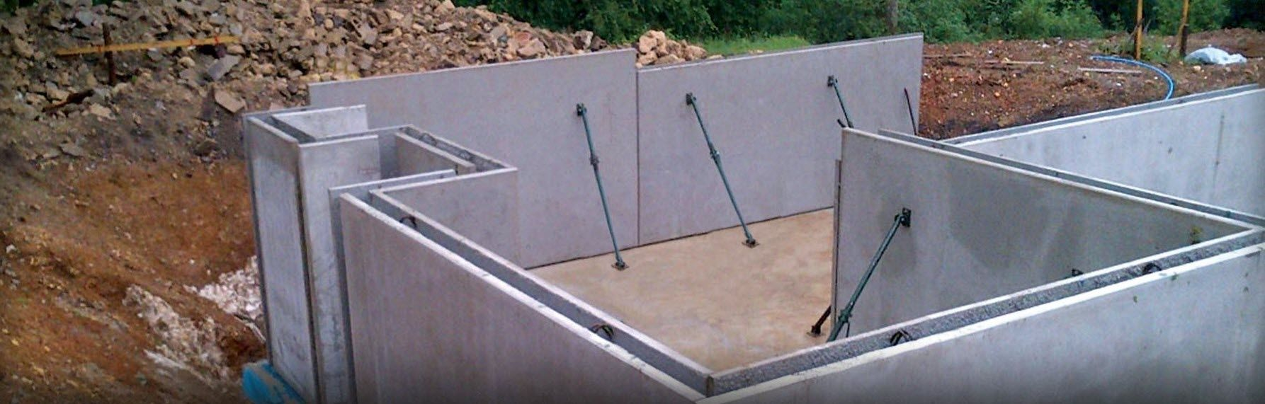 Delightful Precast Concrete Basement Walls Part - 8: Reinforced Concrete Precast Double Wall - BASEMENTS