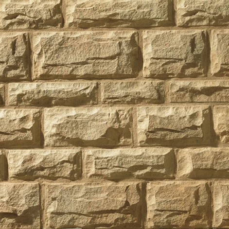 Engineered stone wall cladding panel / exterior / textured ...