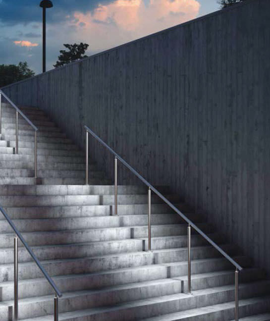 Metal Handrail / With Integrated LED Lighting ...