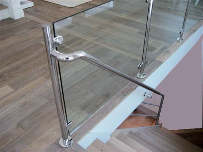 Stainless steel handrail - MIRROR POLISHED - AALCO METALS LIMITED