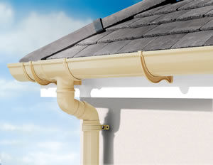 ... Semicircular Roof Gutter / PVC DEEPFLOW 150 Marley Plumbing U0026 Drainage  ...
