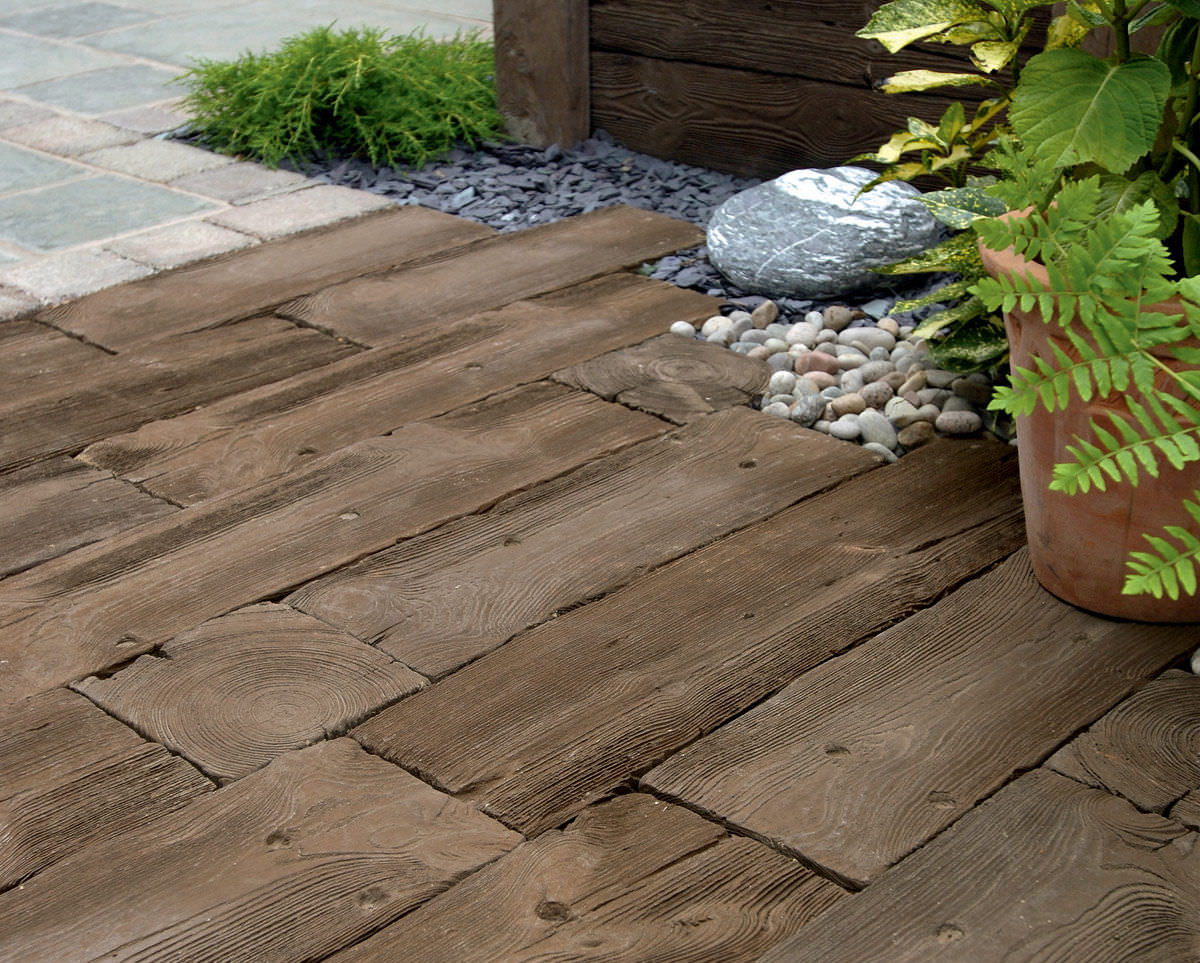 outdoor tile / for floors / wooden / concrete - woodstone sleepers