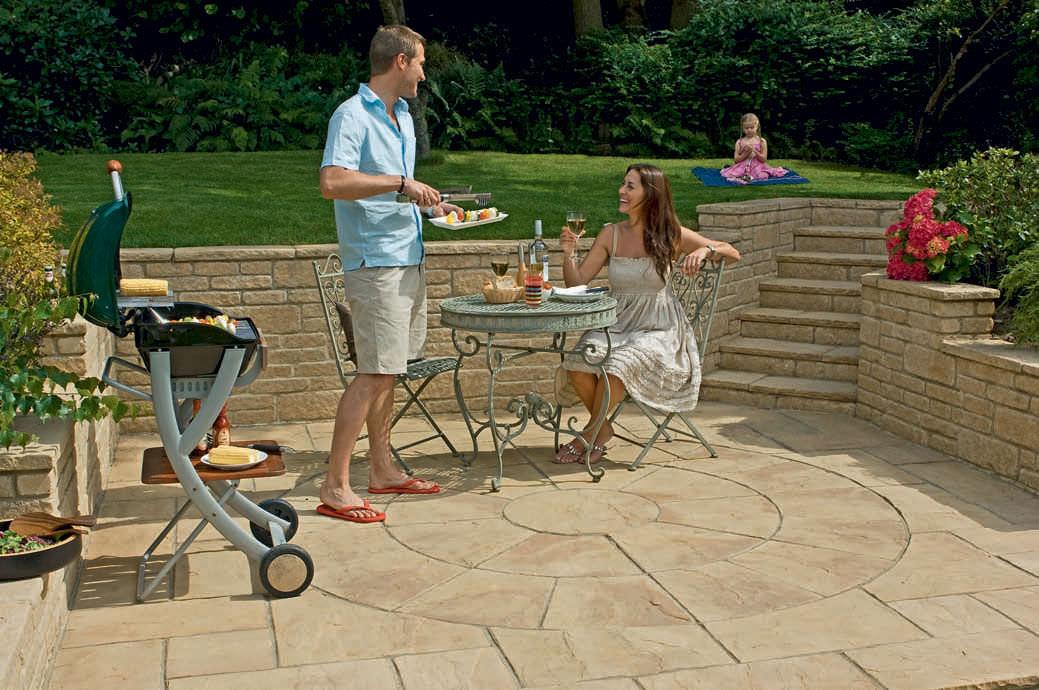 Outdoor Tile Garden For Floors Engineered Stone Heritage Circle Marshalls Plc