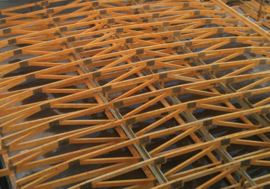 Nice Wooden Roof Truss / Prefab