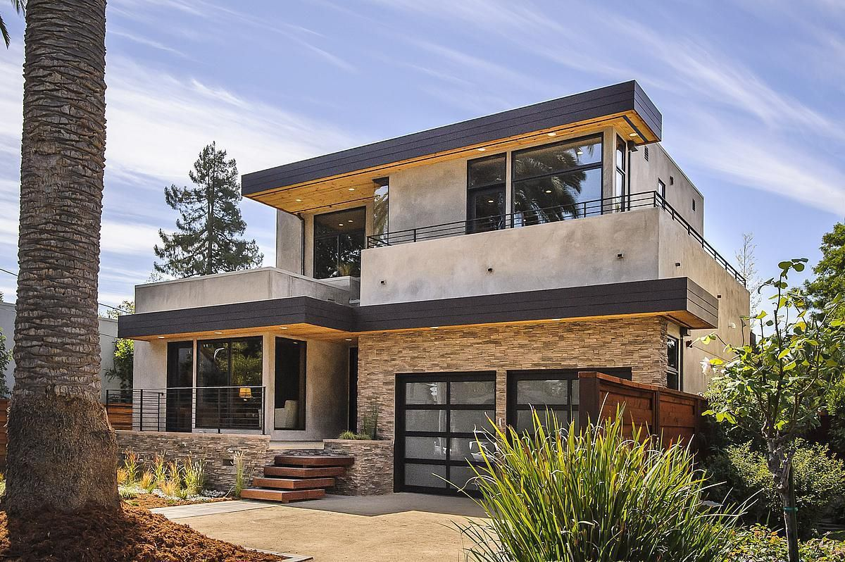 Contemporary two story exterior in los angeles -  Prefab House Contemporary Energy Efficient Two Story Burlingame Clever Homes