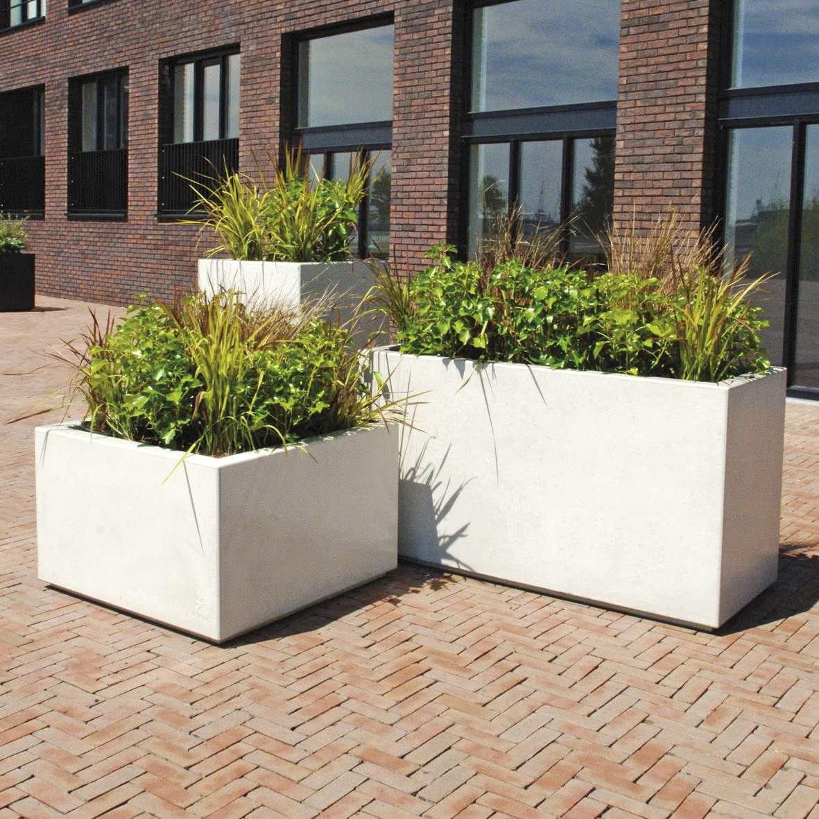 concrete planter vertical square rectangular brick