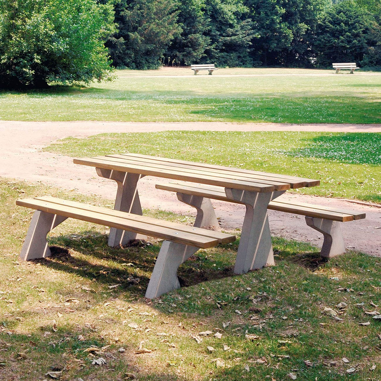 Traditional Picnic Table / Wooden / Concrete / Rectangular   TP