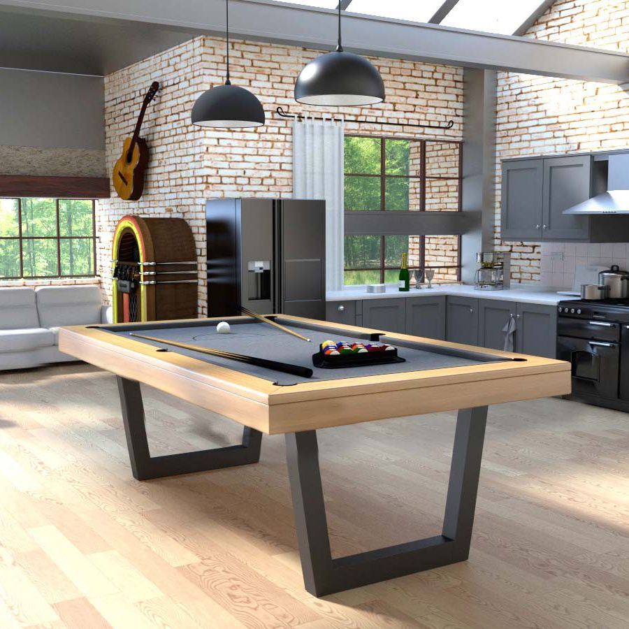 Contemporary Pool Table / Convertible Dining Table / Commercial   HARMONY V