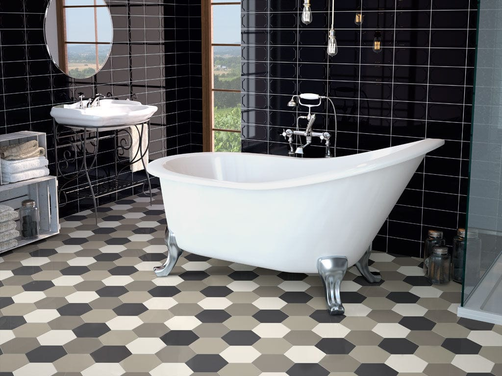 Bathroom And Kitchen Flooring Bathroom Hexagonal Tile Kitchen Floor Hexagon Ape