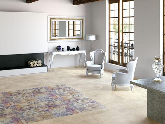 indoor tile floor porcelain stoneware matte big apple ape - Big Tiles For Living Room