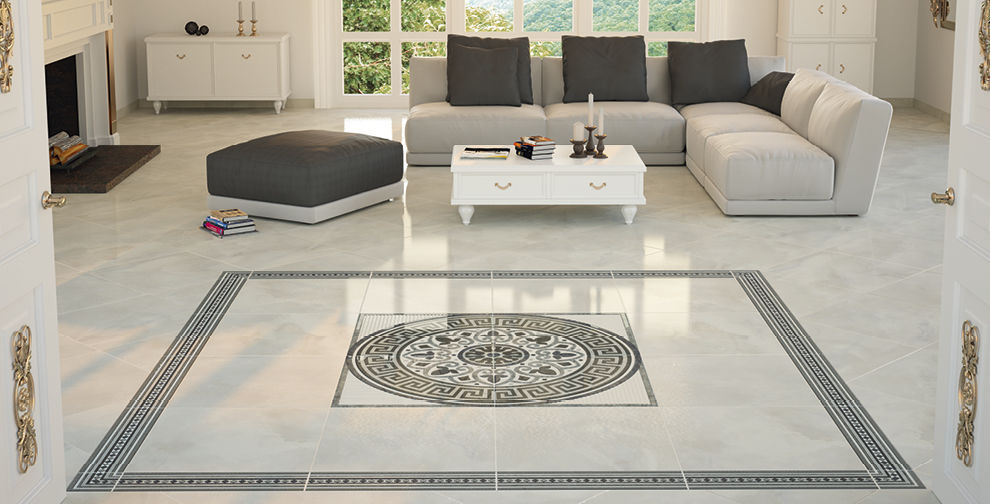 Living room tile / floor / porcelain stoneware / high-gloss - TAURUS ...