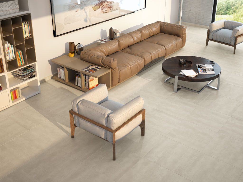 Living Room Tile Floor Porcelain Stoneware Matte