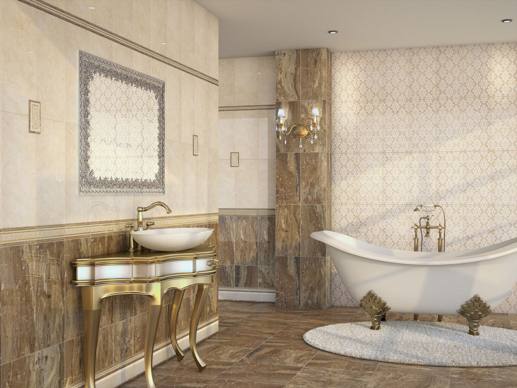 Indoor tile / floor / ceramic / high-gloss - GOYA - APE