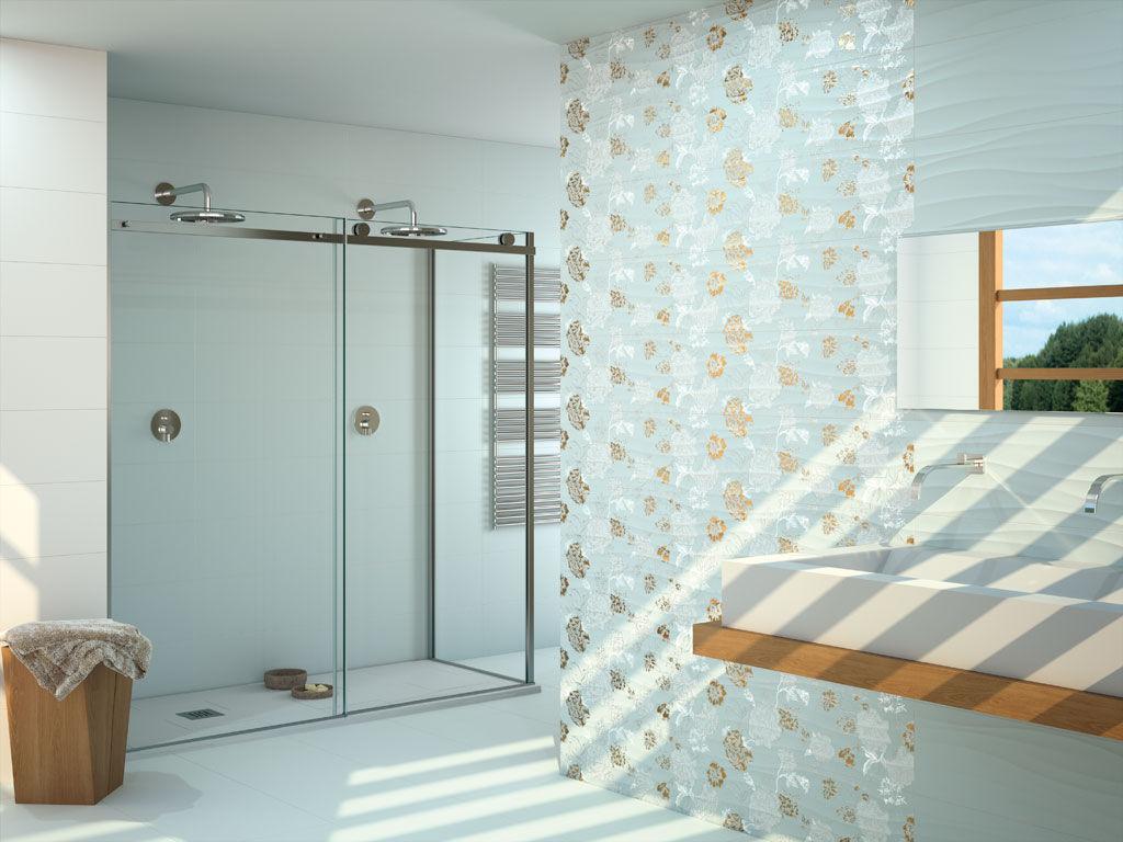 Bathroom tile / floor / ceramic / plain - PURITY - APE - Videos