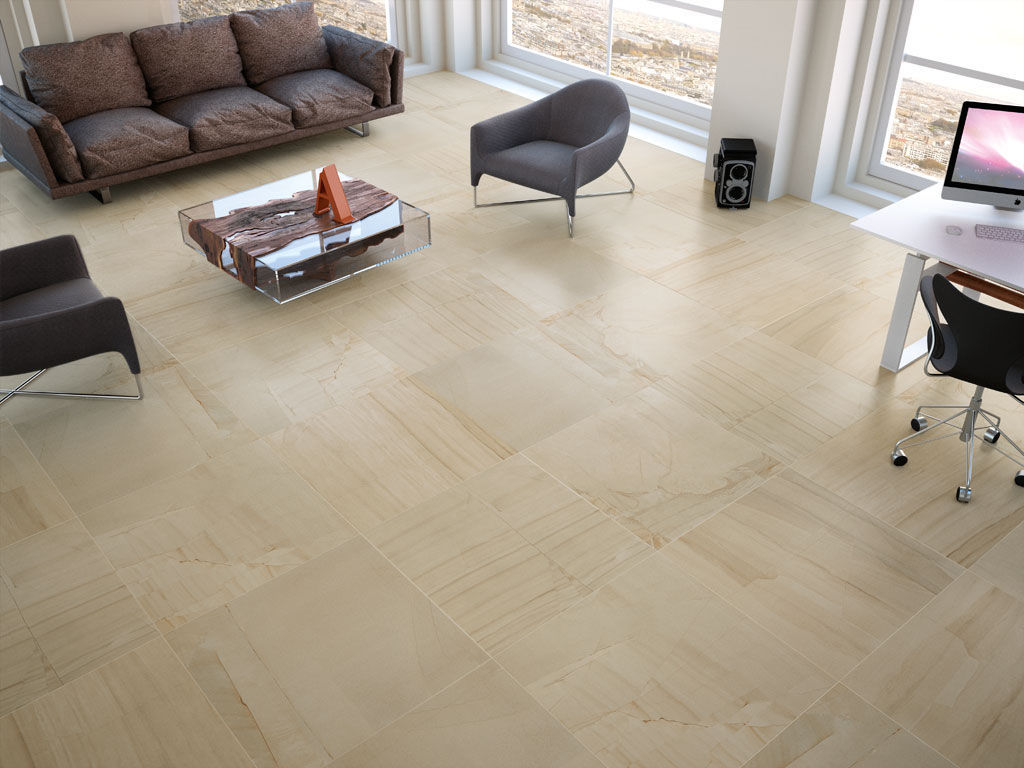 Living room tile / floor / porcelain stoneware / matte - BIG BEND ...