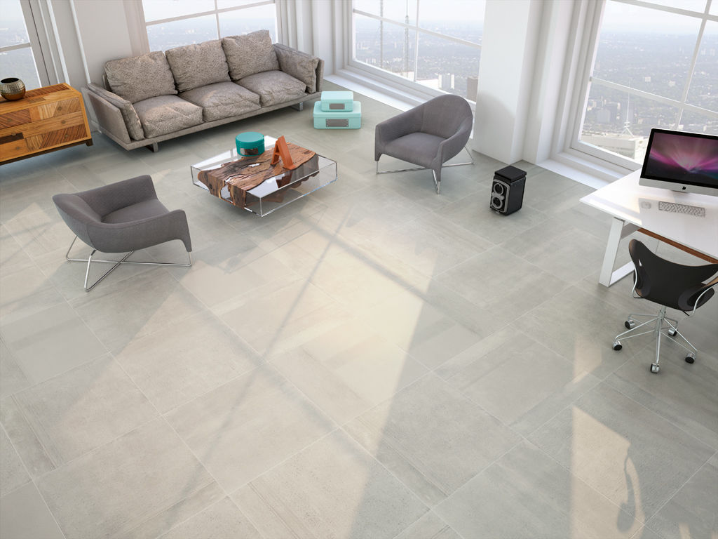 Living room tile / floor / porcelain stoneware / matte - CREATIVE - APE