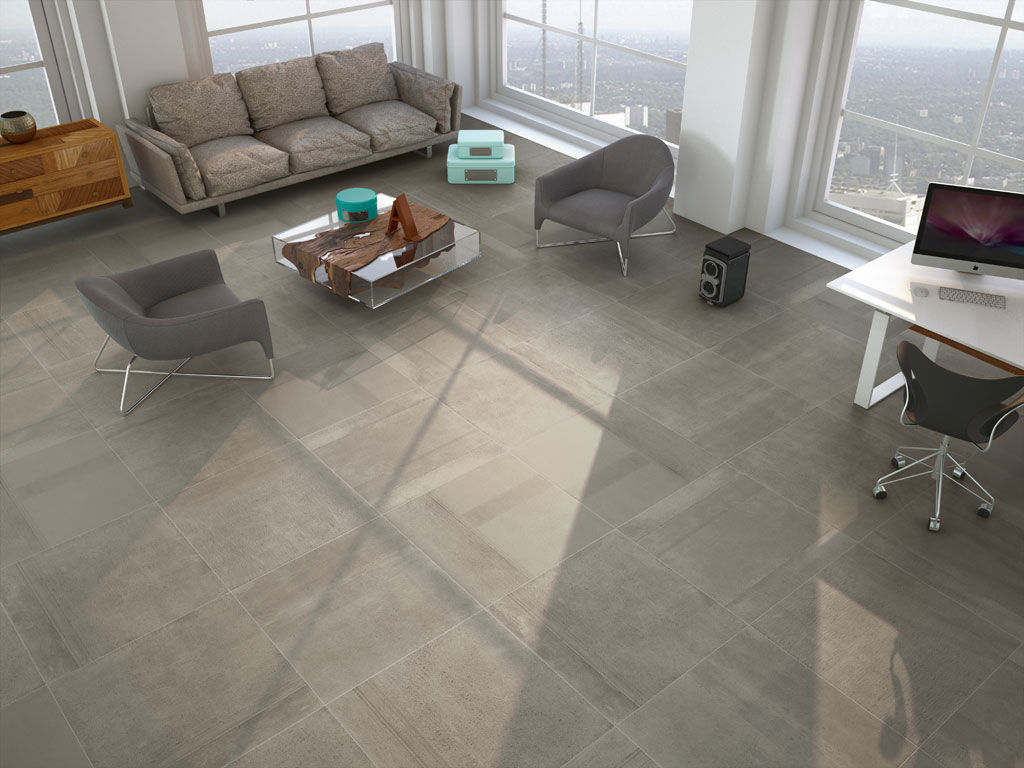 Living Room Tile / Floor / Porcelain Stoneware / Matte ...