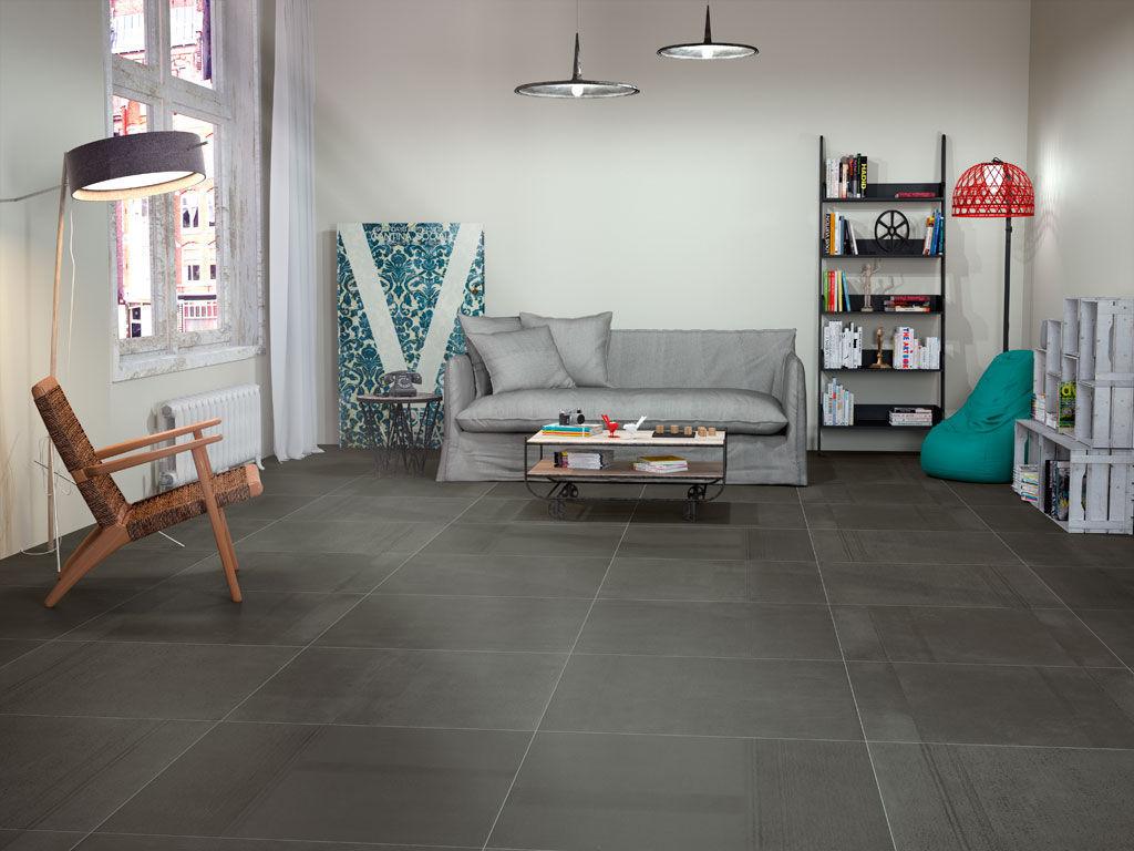 Living Room Tile Floor Porcelain Stoneware Matte