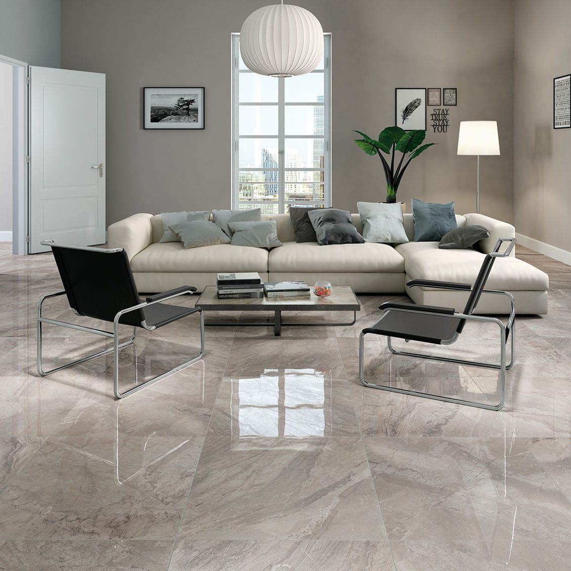 Living room tile wall floor porcelain stoneware luxury