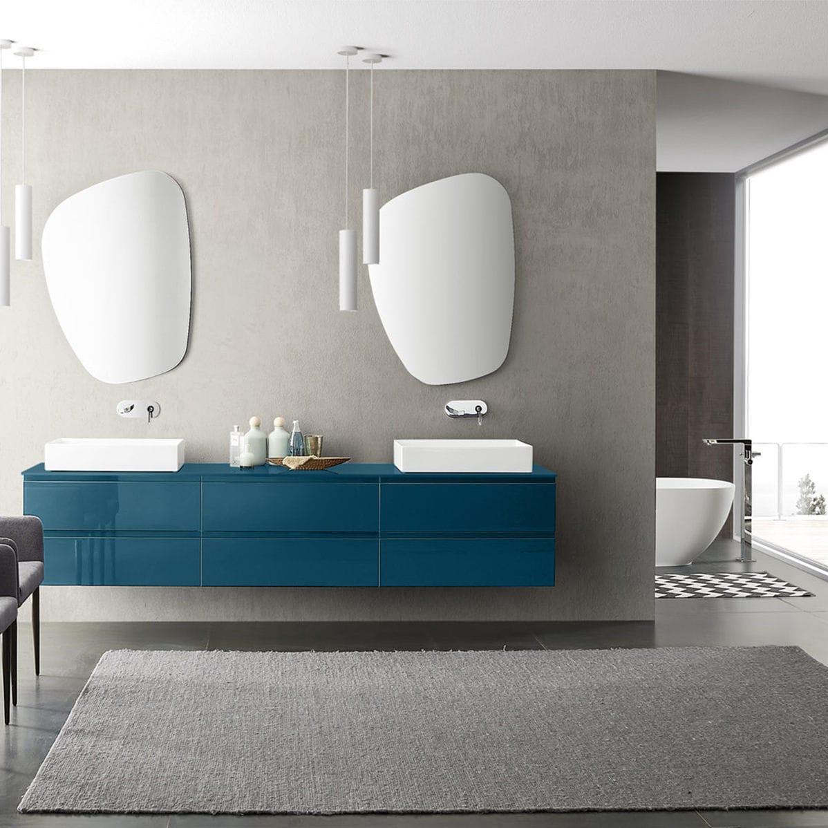 Contemporary bathroom / ceramic / wooden / melamine - COMPOSIZIONE ...