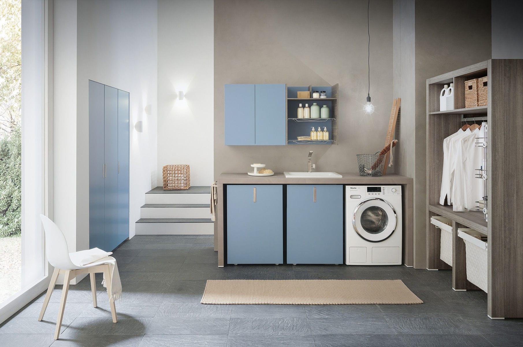 Laundry room cabinet - COMPOSIZIONE 1 - AZZURRA ARREDOBAGNO