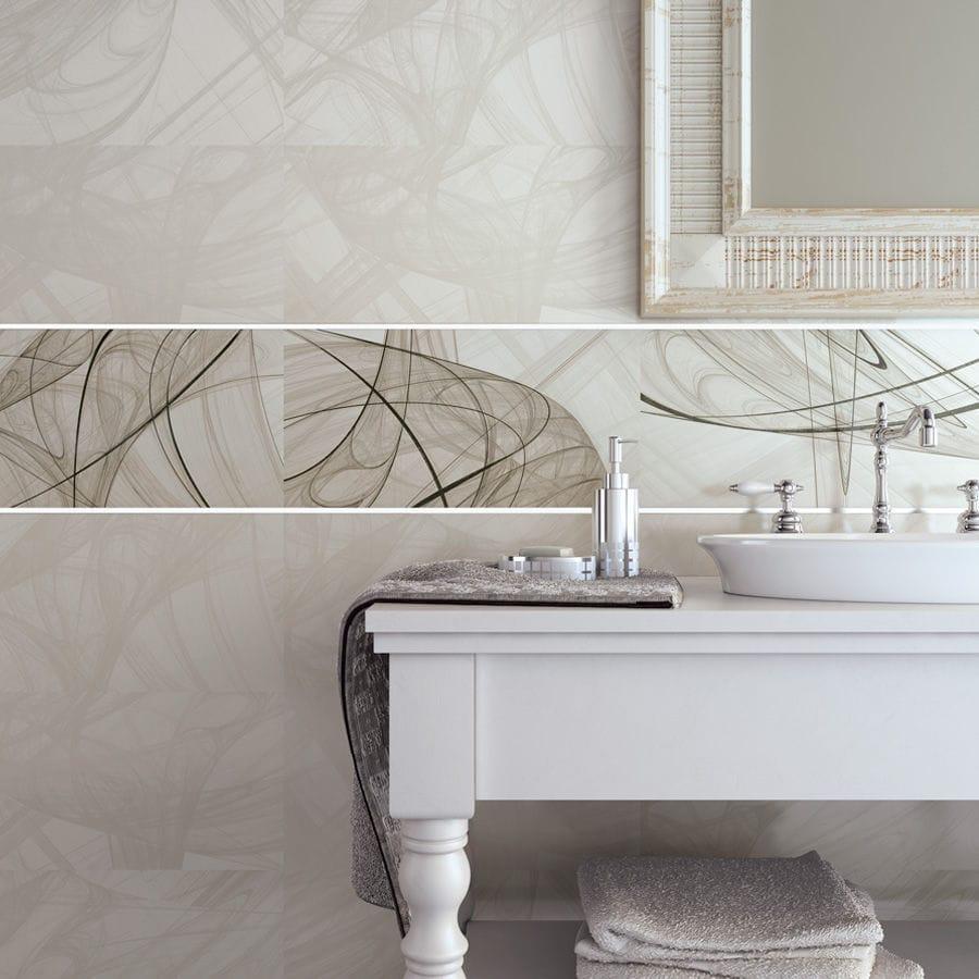 Bathroom tile / floor / ceramic / patterned - SABA - BIEN SERAMIK