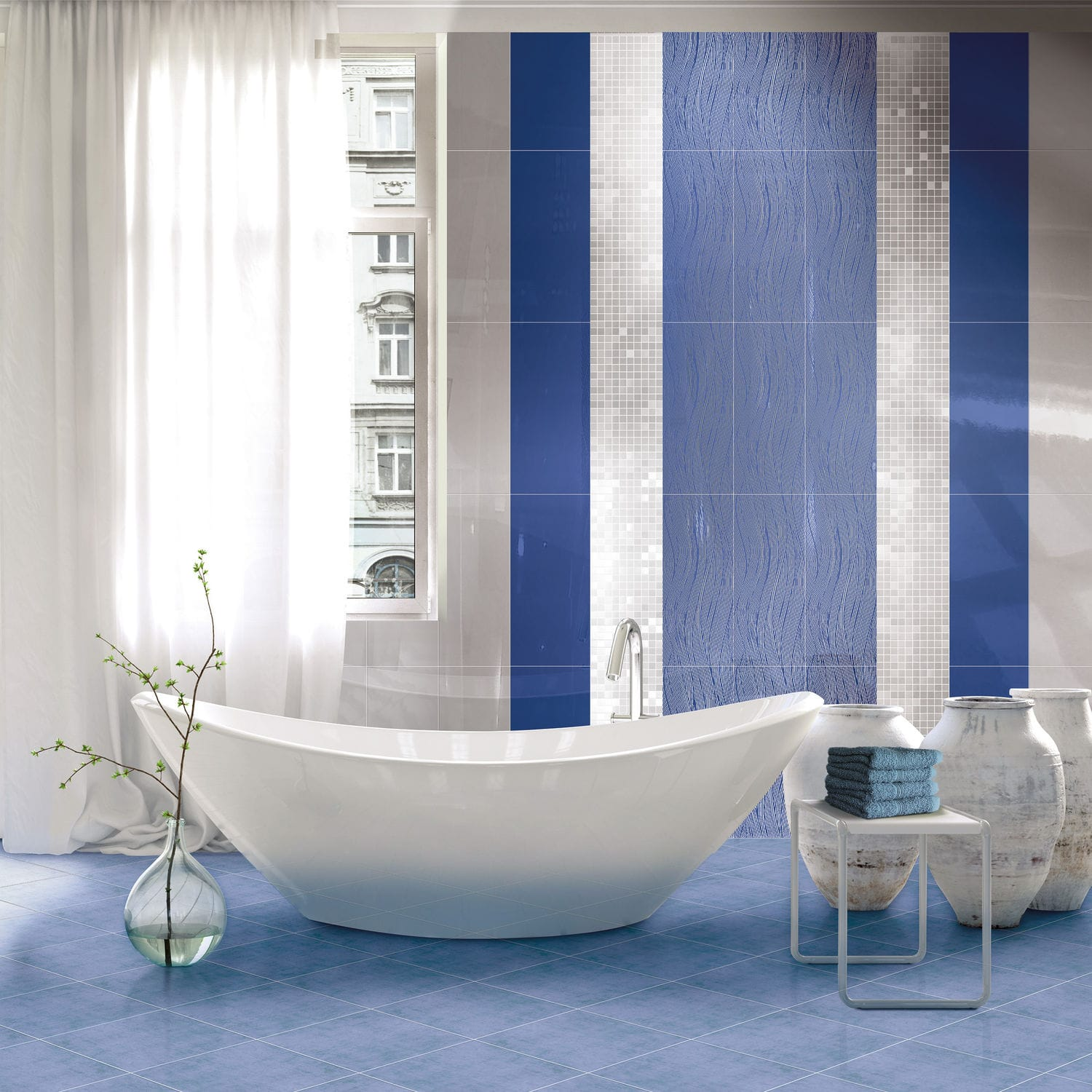 Bathroom tile / wall / for floors / porcelain stoneware ...